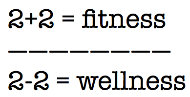 Fitness + Wellness = Mathematics